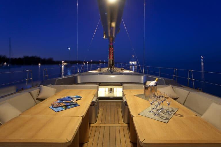 Super Yacht Dark Shadow dining area