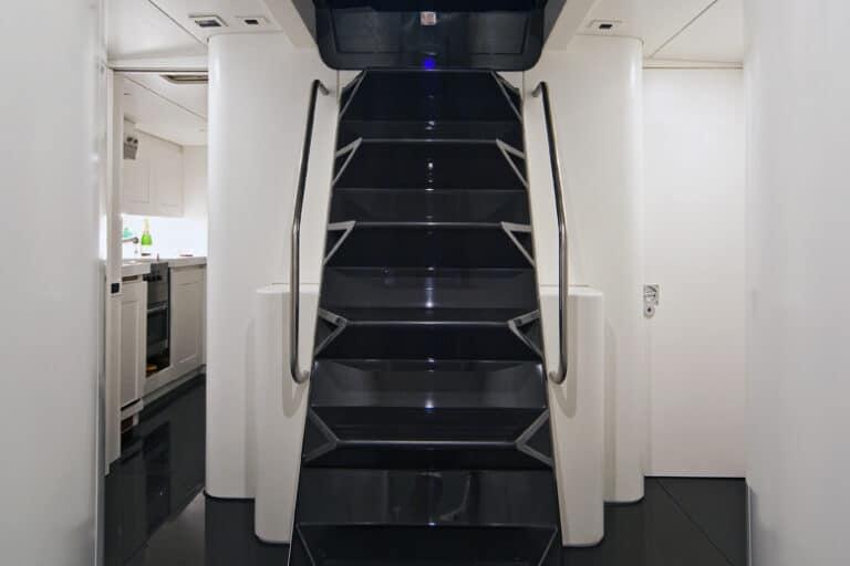 Super Yacht Dark Shadow stairs