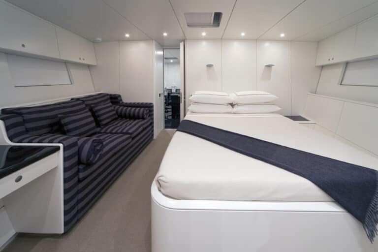 Super Yacht Dark Shadow master bedroom