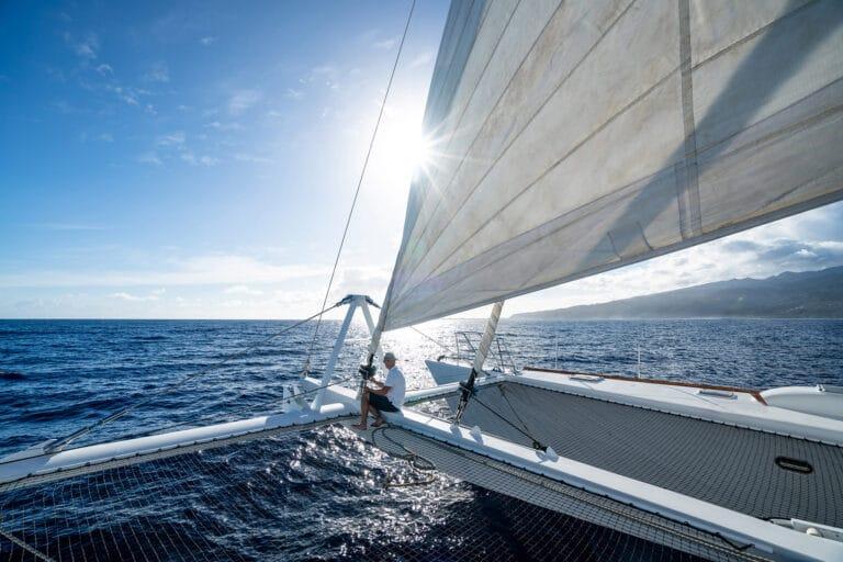 Super yacht DOUCE FRANCE - Trampoline