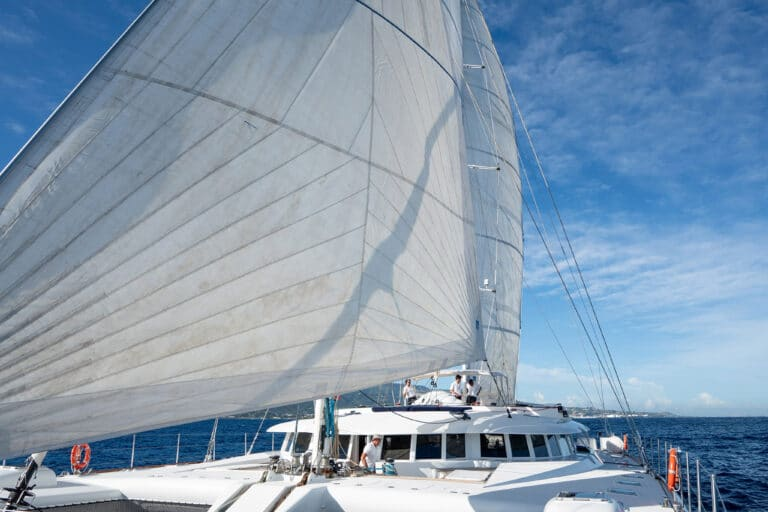 Super yacht DOUCE FRANCE - From the front