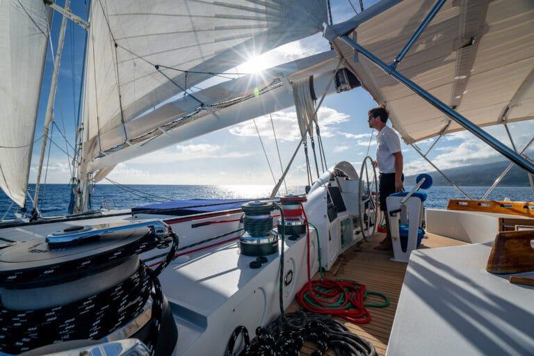 Super yacht DOUCE FRANCE - Captain sailing