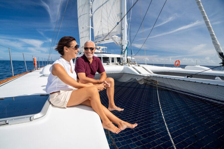 Super yacht DOUCE FRANCE - Guests relaxing