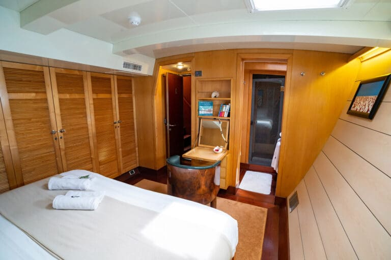 Super yacht DOUCE FRANCE - Master cabin overview