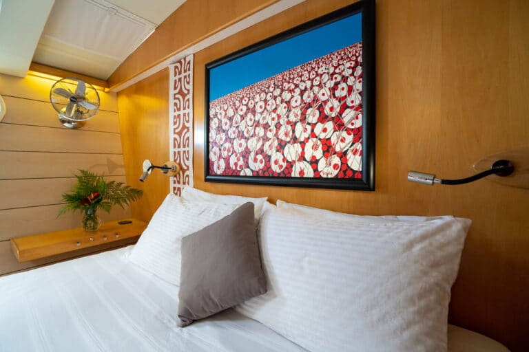 Super yacht DOUCE FRANCE - Master cabin painting