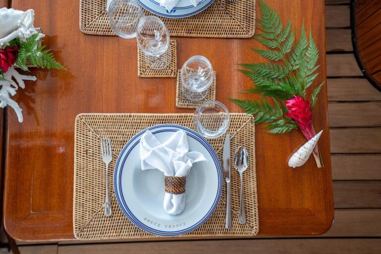Super yacht DOUCE FRANCE - Fine dining