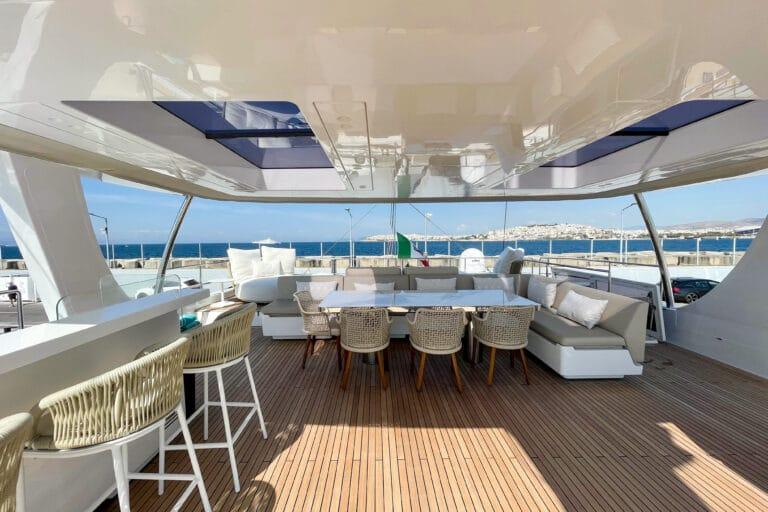Luxury Catamaran GENNY - Sunreef 80 - Al fresco dining