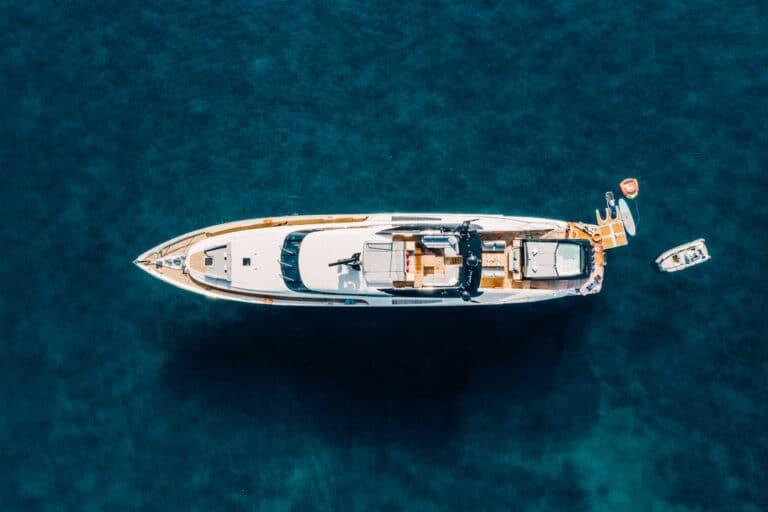 Yacht Bagheera aerial view
