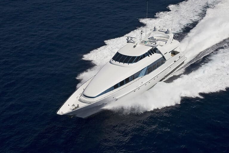 Luxury Motor Yacht MOONRAKER drone shot