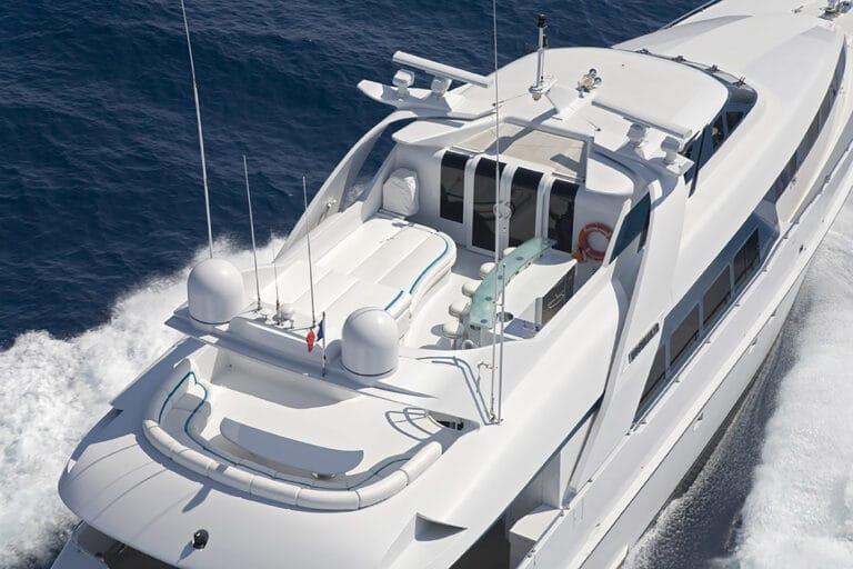 Luxury Motor Yacht MOONRAKER bird view