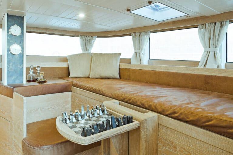 Sailing Yacht Helene - Deck Saloon