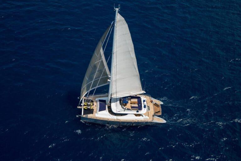 Luxury Catamaran HUTIANE Bird view