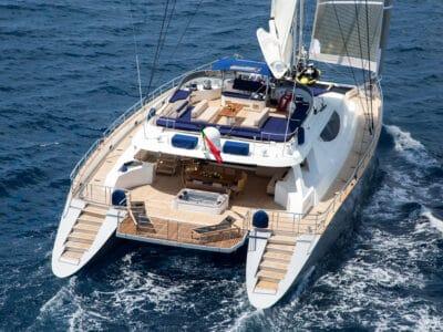 Luxury Catamaran HUTIANE Aft Cruising