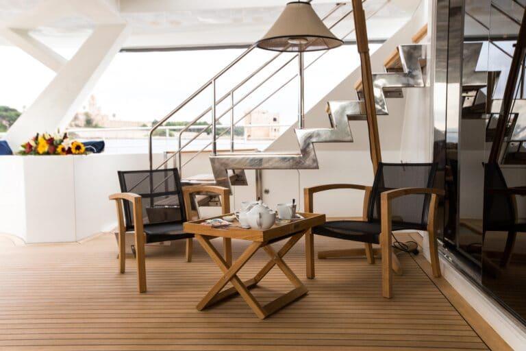 Luxury Catamaran HUTIANE Aft Deck