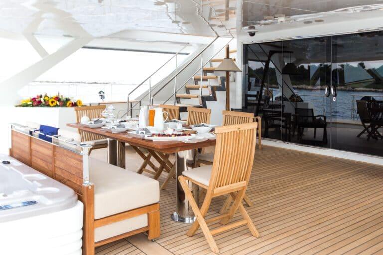 Luxury Catamaran HUTIANE Al Fresco Dining