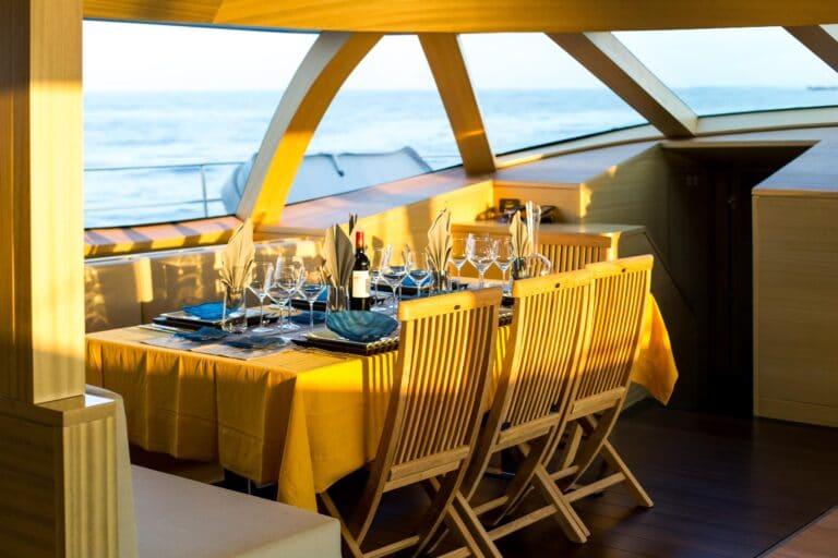 Luxury Catamaran HUTIANE Dining