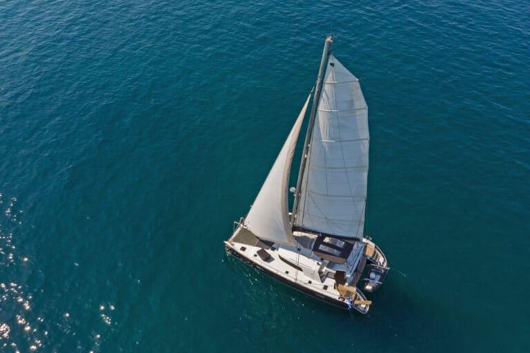 Luxury Sailing Catamaran IDEA! - bird view