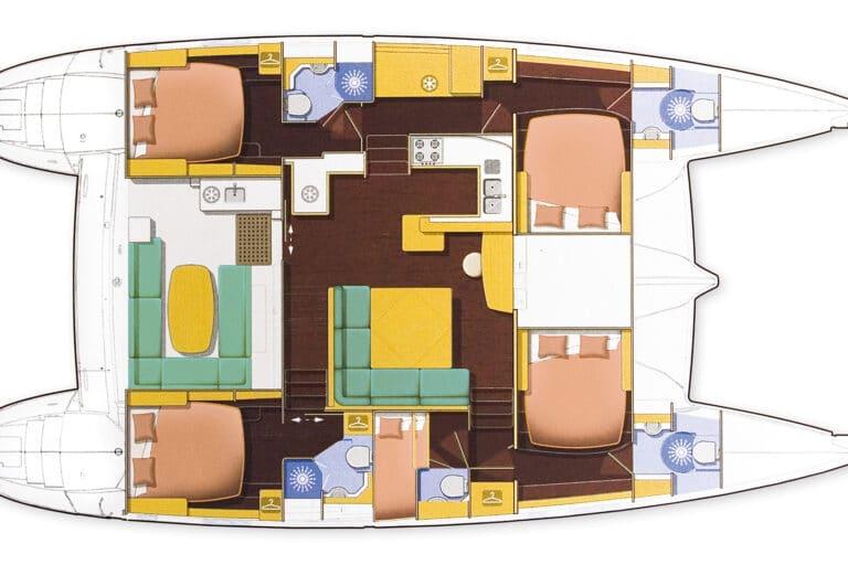 Luxury Sailing Catamaran IDEA! - Floorplan