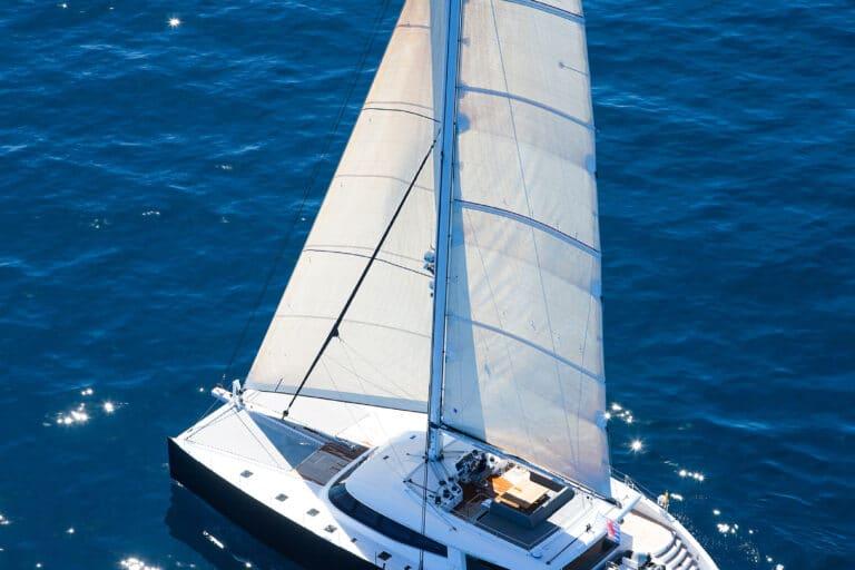 Luxury Catamaran LEVANTE - Bird view