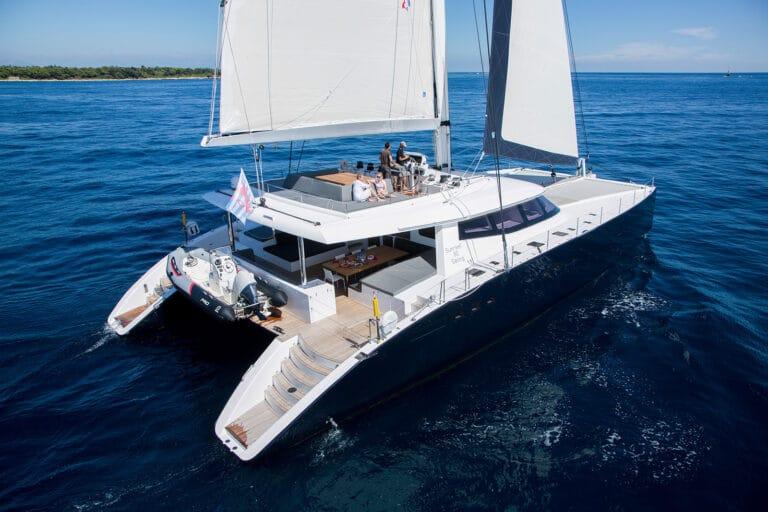 Luxury Catamaran LEVANTE - Bird view aft deck