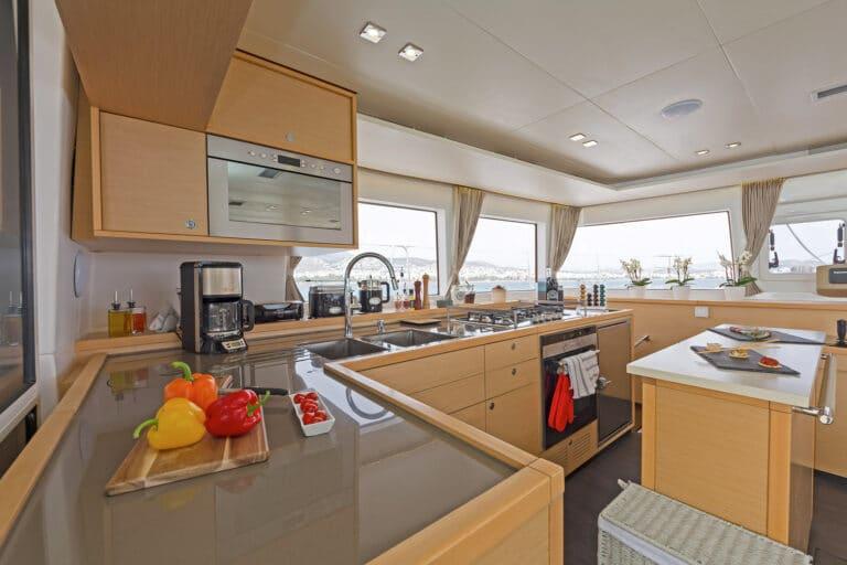 MELITI - Luxury Catamaran Galley