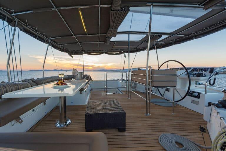 MELITI - Luxury Catamaran Aft Deck