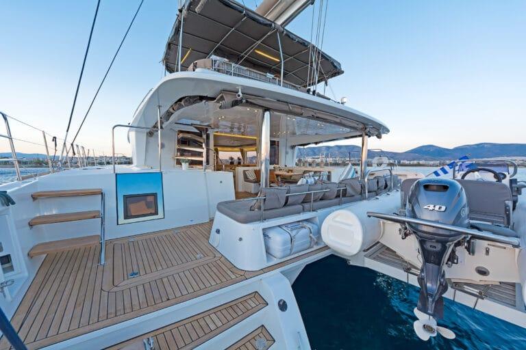 MELITI - Luxury Catamaran Aft deck side