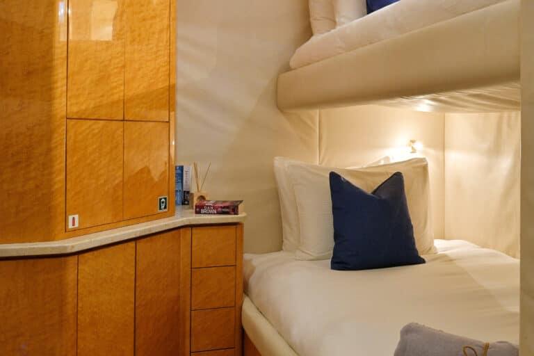 Luxury Motor Yacht MOONRAKER interior double cabin