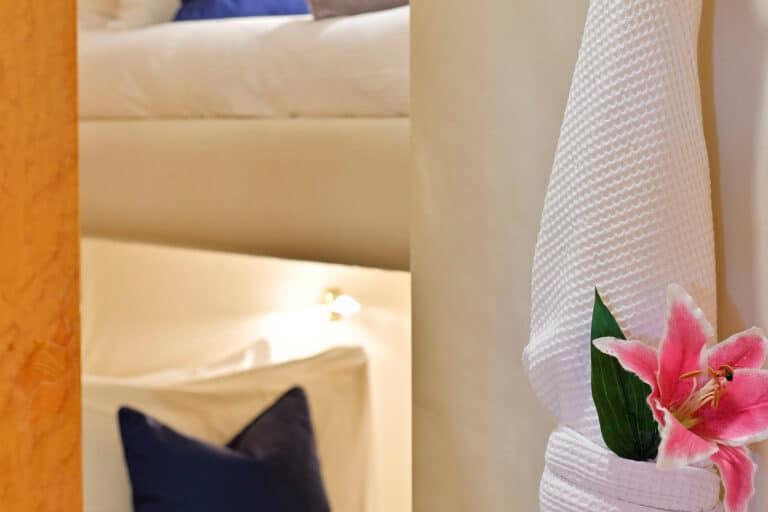 Luxury Motor Yacht MOONRAKER interior bathrobe