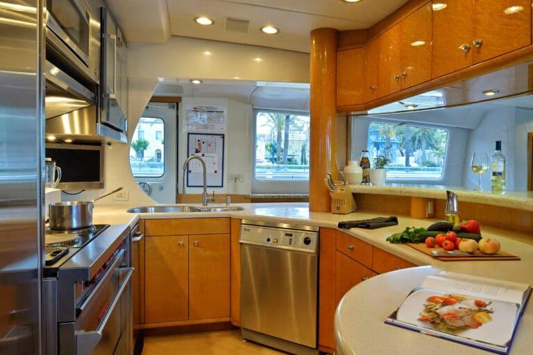 Luxury Motor Yacht MOONRAKER galley