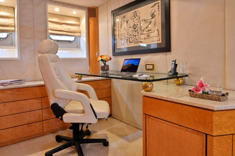 Luxury Motor Yacht MOONRAKER desk