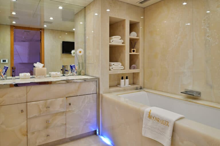 Luxury Motor Yacht MOONRAKER Master bathroom
