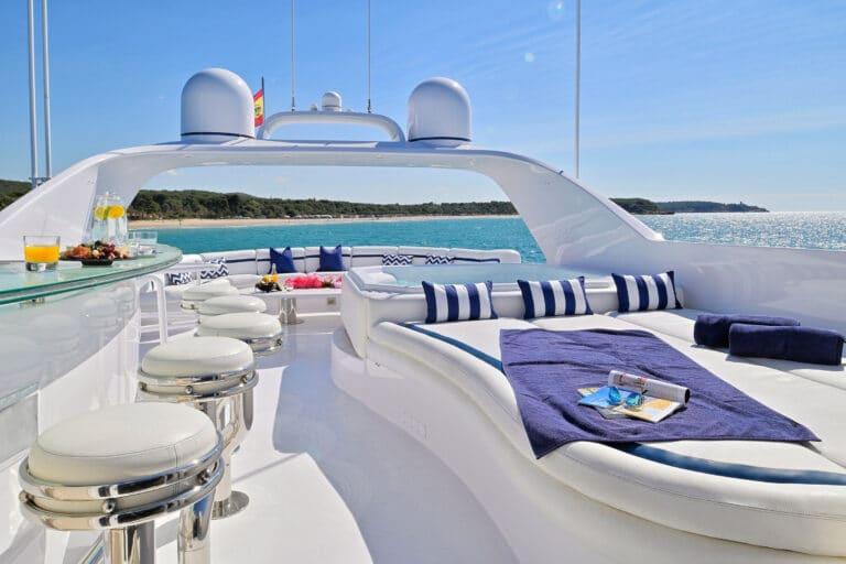 Luxury Motor Yacht MOONRAKER sun deck