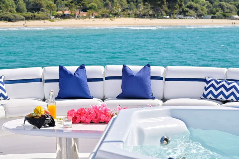 Luxury Motor Yacht MOONRAKER sun deck detail