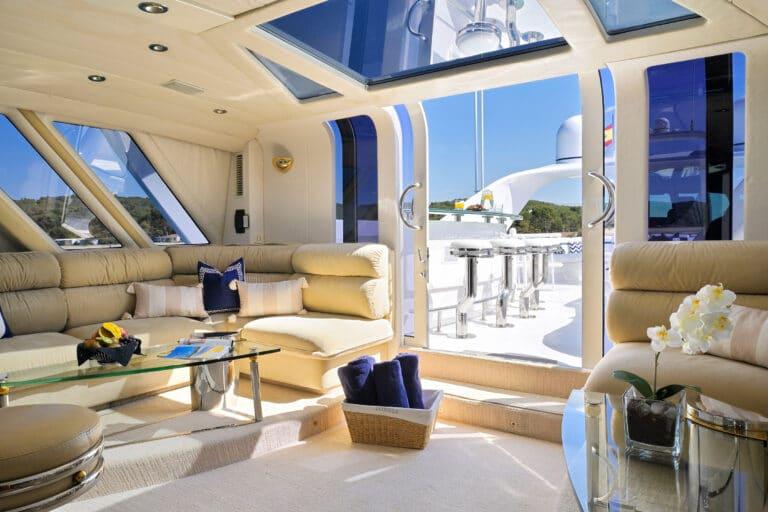 Luxury Motor Yacht MOONRAKER living space to sun deck