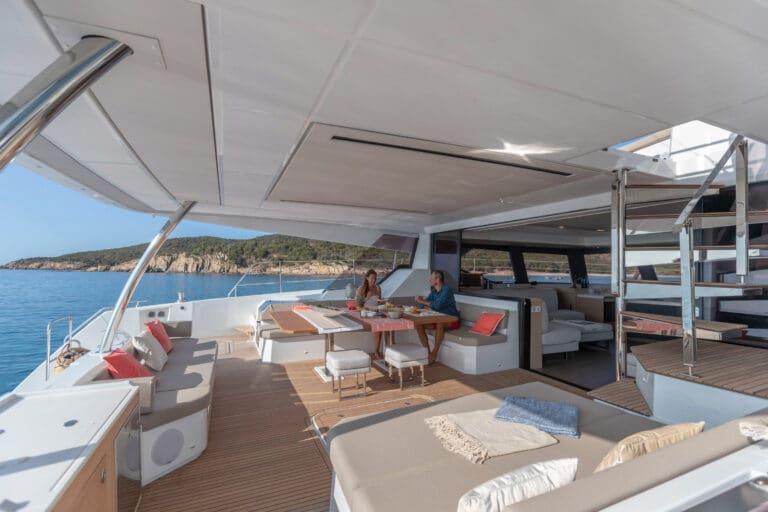 Luxury Catamaran NUMBER ONE - Aft deck
