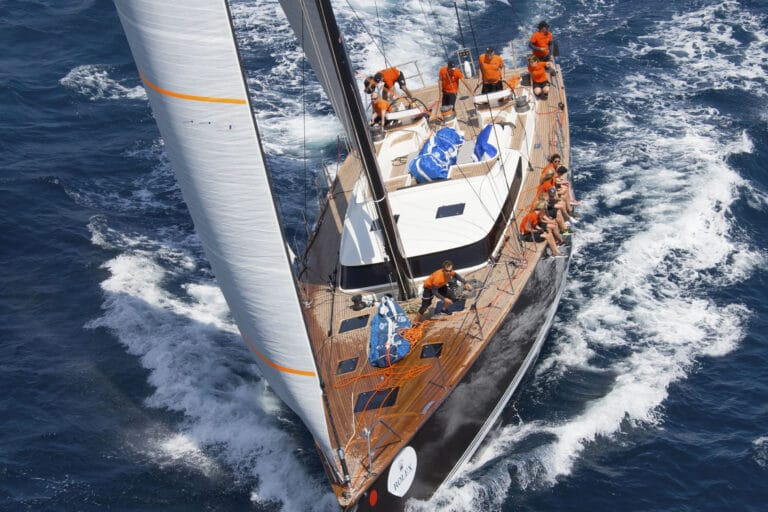 Sailing yacht PH3 in action
