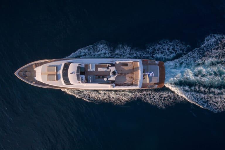 Luxury Motor Yacht PROJECT STEEL drone