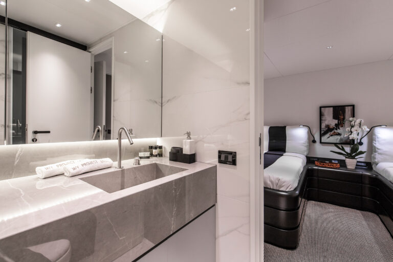 Luxury Motor Yacht PROJECT STEEL Bathroom