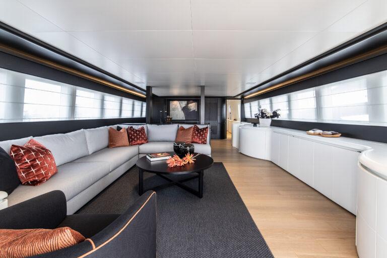 Luxury Motor Yacht PROJECT STEEL Saloon