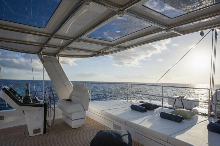 Luxury Catamaran SAMA cockpit