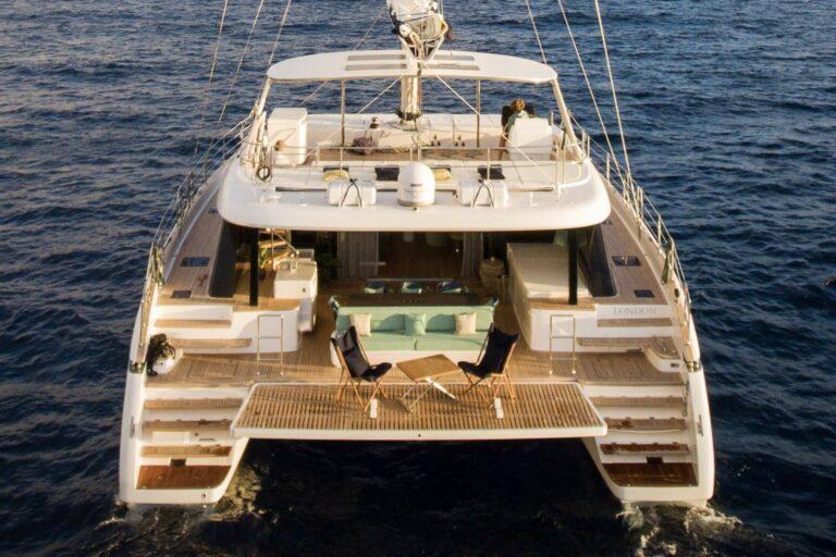 Luxury Catamaran SAMA Aft Deck