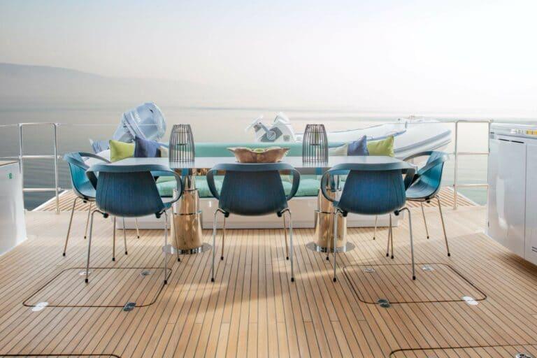 Luxury Catamaran SAMA Al fresco dining