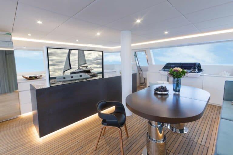Luxury Catamaran SAMA Saloon