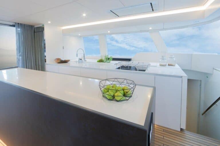 Luxury Catamaran SAMA Galley