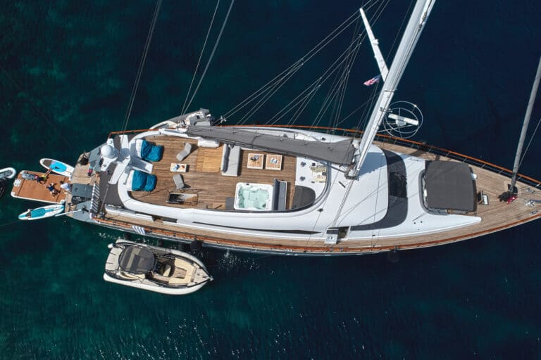 Luxury Motor Yacht SAN LIMI bird view