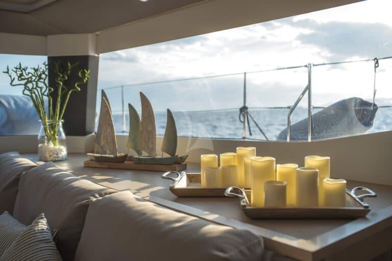 Luxury Yacht SEA ENERGY V - dining table