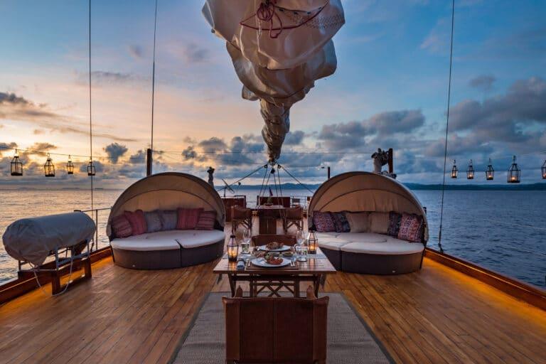 Luxury Yacht SEQUOIA sun deck