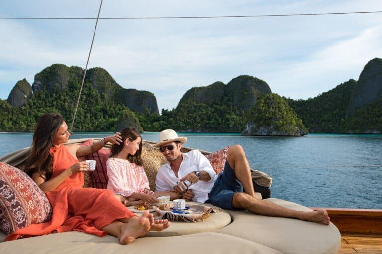 Luxury Yacht SEQUOIA relaxing