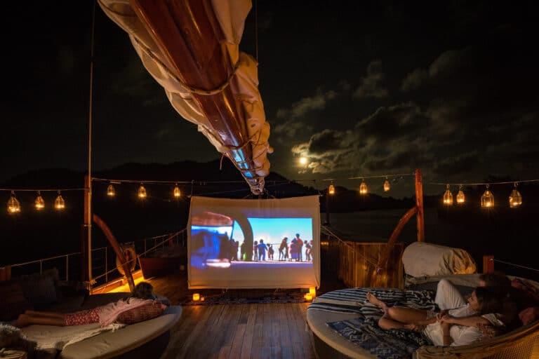 Luxury Yacht SEQUOIA outdoor cinema